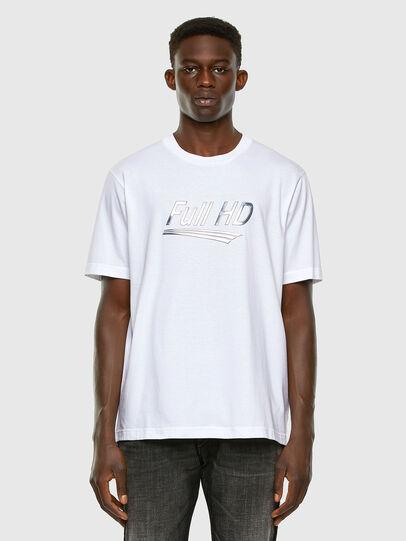 Diesel - T-JUST-SLITS-X83, Bianco - T-Shirts - Image 5