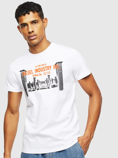 Diesel - T-DIEGO-S13, Bianco - T-Shirts - Image 1