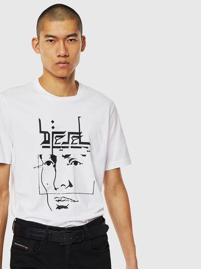 Diesel - T-JUST-J14, Bianco - T-Shirts - Image 4