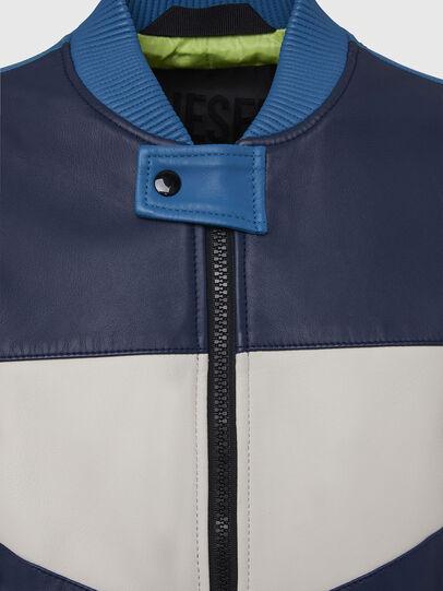 Diesel - L-MAY, Blu/Bianco - Giacche di pelle - Image 4
