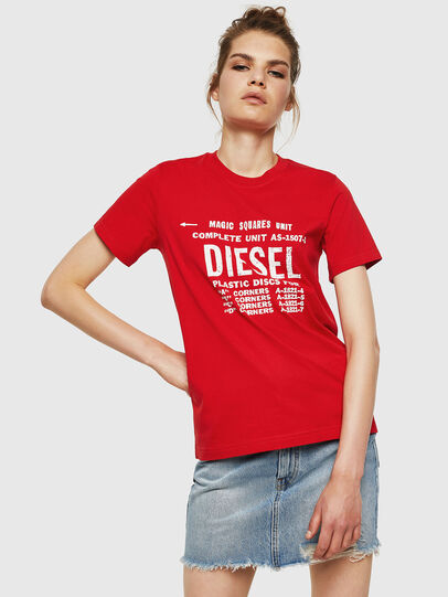 Diesel - T-SILY-ZF, Rosso Fuoco - T-Shirts - Image 1