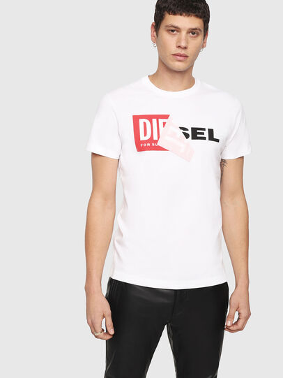 Diesel - T-DIEGO-QA, Bianco - T-Shirts - Image 1