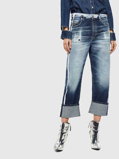 Diesel - D-Reggy 0096S, Blu medio - Jeans - Image 1
