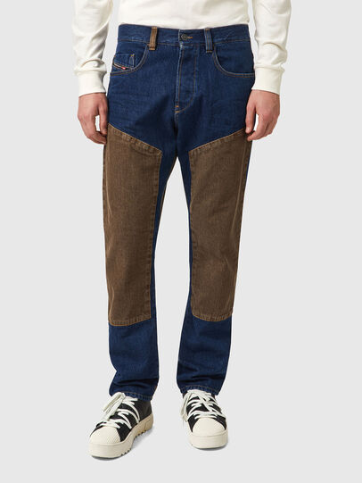 Diesel - D-Viker 0AFAK, Blu Scuro - Jeans - Image 1