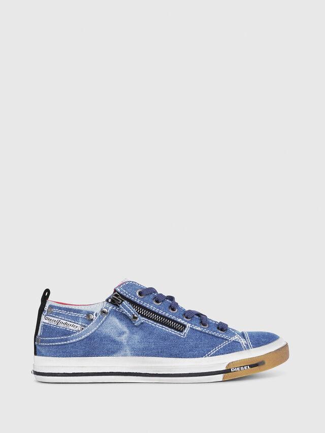 Diesel - EXPO-ZIP LOW W, Blu Jeans - Sneakers - Image 1