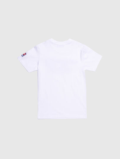 Diesel - TJUSTDIVISION-D, Bianco - T-shirts e Tops - Image 2