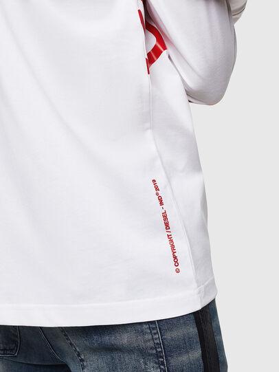 Diesel - T-JUST-LS-STAR, Bianco - T-Shirts - Image 5