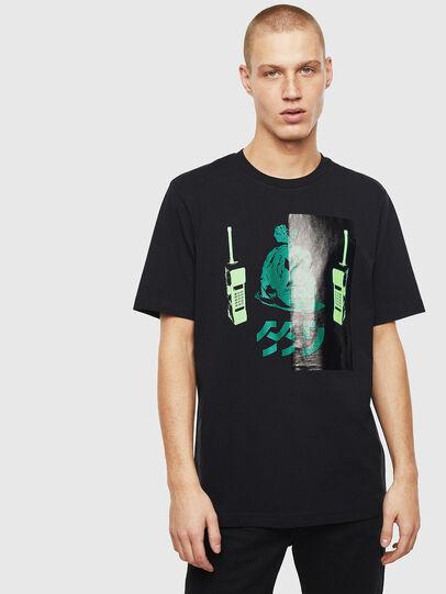 Diesel - T-JUST-T30, Nero - T-Shirts - Image 1