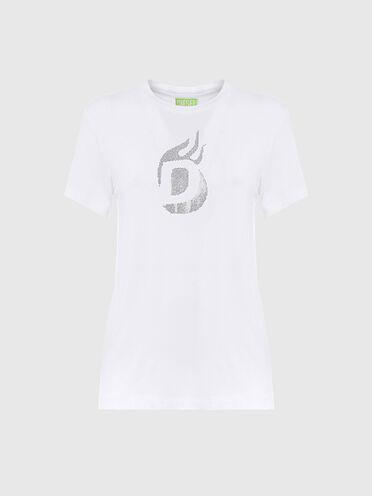 T-shirt Green Label con logo borchiato