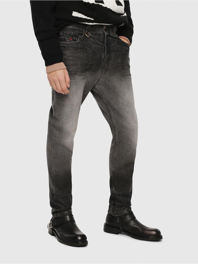 Diesel - D-Aygle 089AU, Nero/Grigio scuro - Jeans - Image 1