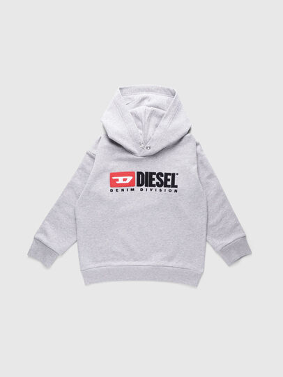 Diesel - SDIVISION OVER, Grigio - Felpe - Image 1