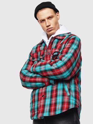 S-JOHNS, Verde/Rosso - Camicie