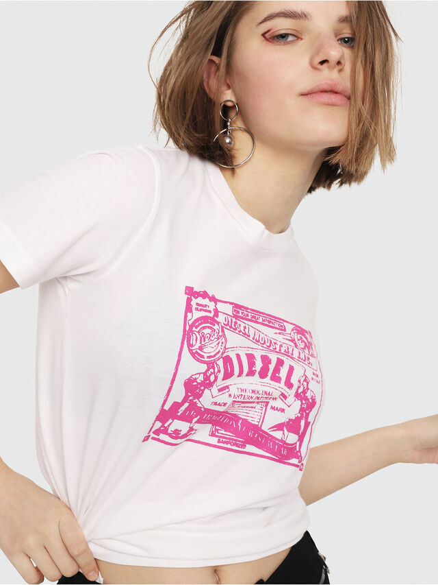 Diesel - T-SILY-C3, Bianco/Rosa - T-Shirts - Image 3