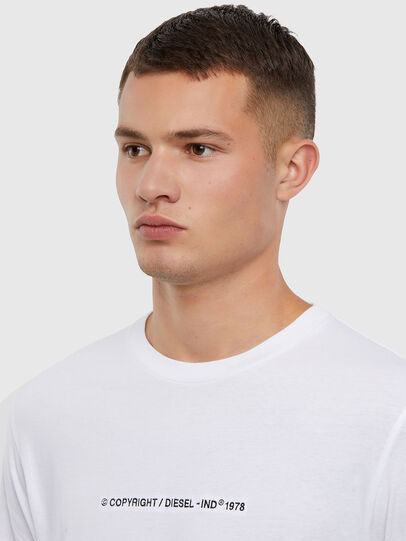 Diesel - T-JUST-LS-X93, Bianco - T-Shirts - Image 3