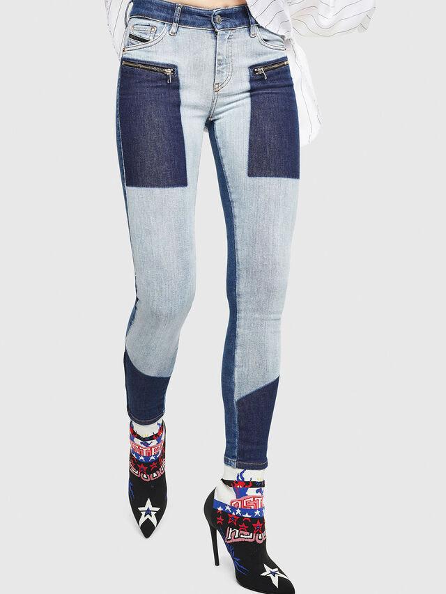Diesel - Slandy Zip 0890L, Blu medio - Jeans - Image 1