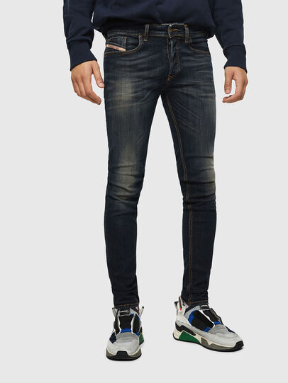 Diesel - Sleenker 069FX, Blu Scuro - Jeans - Image 1