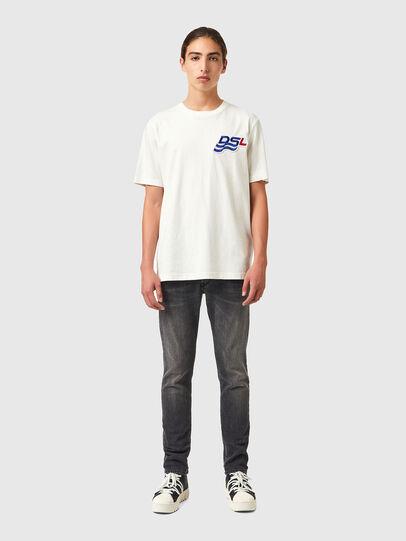 Diesel - T-JUST-B83, Bianco - T-Shirts - Image 4