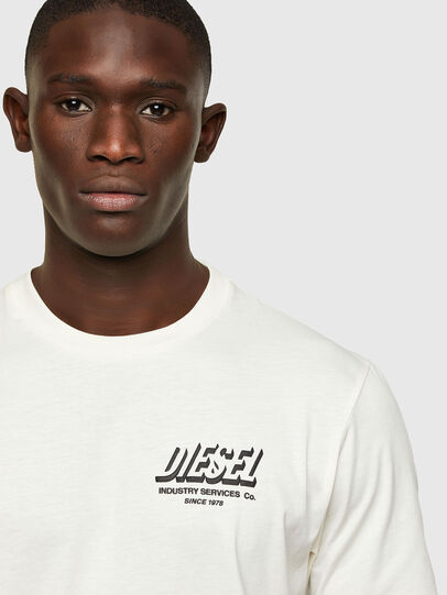 Diesel - T-JUST-A33, Bianco - T-Shirts - Image 3