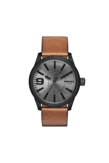 Rasp orologio con cinturino in pelle marrone