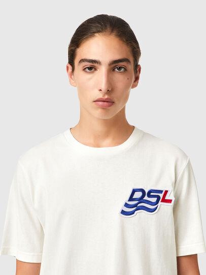 Diesel - T-JUST-B83, Bianco - T-Shirts - Image 3