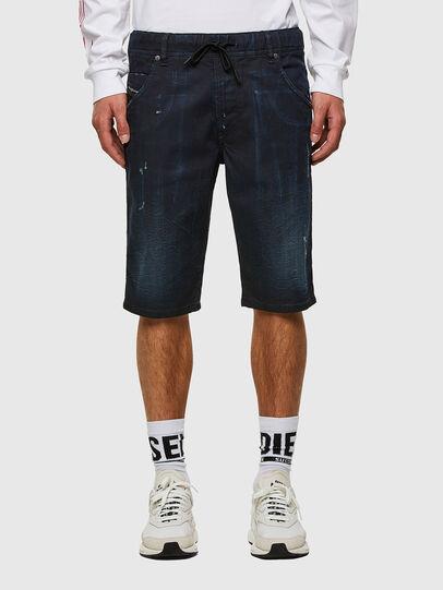 Diesel - D-KROOSHORT-SP JOGGJEANS, Blu Scuro - Shorts - Image 1