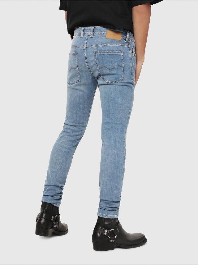 Diesel - Sleenker 086AK, Blu Chiaro - Jeans - Image 2