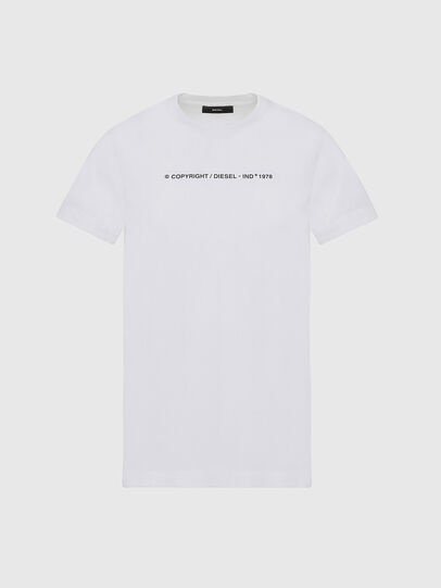 Diesel - T-SILY-COPY, Bianco - T-Shirts - Image 1
