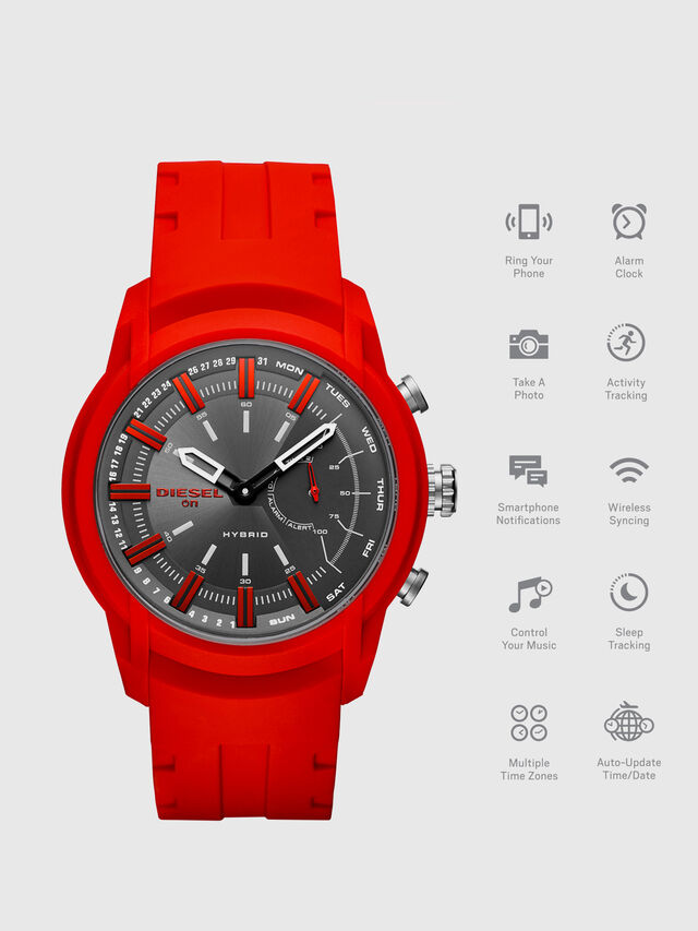 Diesel - DT1016, Rosso - Smartwatches - Image 1