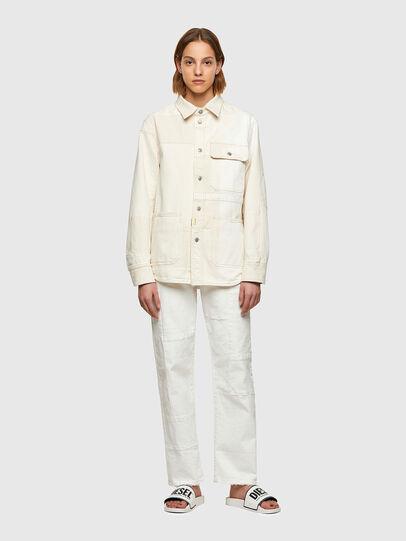 Diesel - D-HORUS-SP, Bianco - Camicie in Denim - Image 8