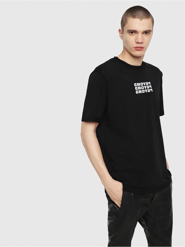 Diesel - T-JUST-Y9, Nero - T-Shirts - Image 1