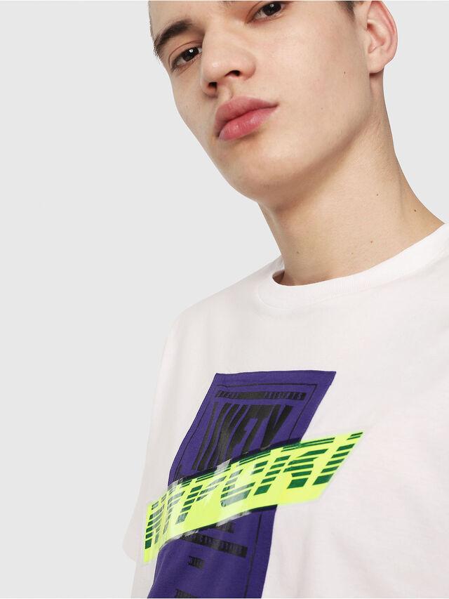Diesel - T-JUST-Y7, Bianco - T-Shirts - Image 3