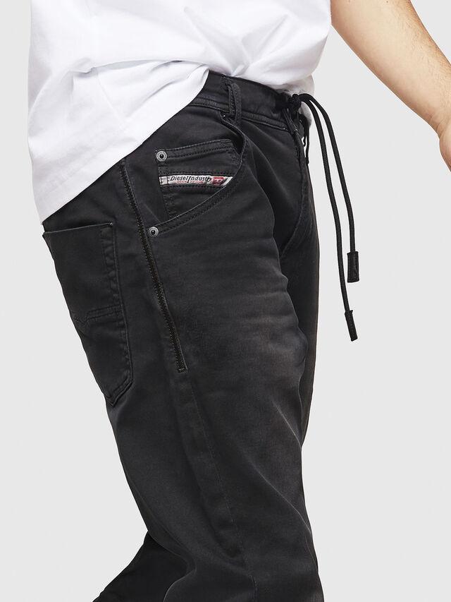 Diesel - Krooley Long JoggJeans 0670M, Nero - Jeans - Image 3