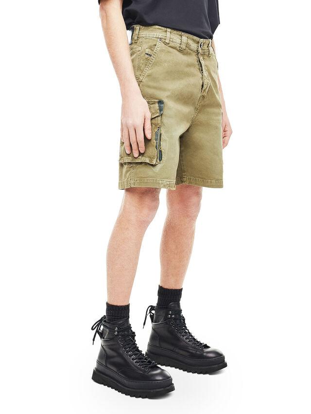 Diesel - TYPE-2908, Verde Militare - Shorts - Image 3