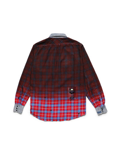 Diesel - D-DEEPCHECK-B, Rosso - T-Shirts - Image 2