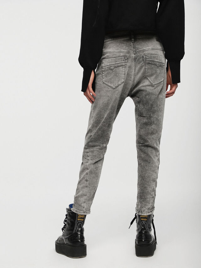 Diesel - Fayza JoggJeans 0855B, Grigio Chiaro - Jeans - Image 2