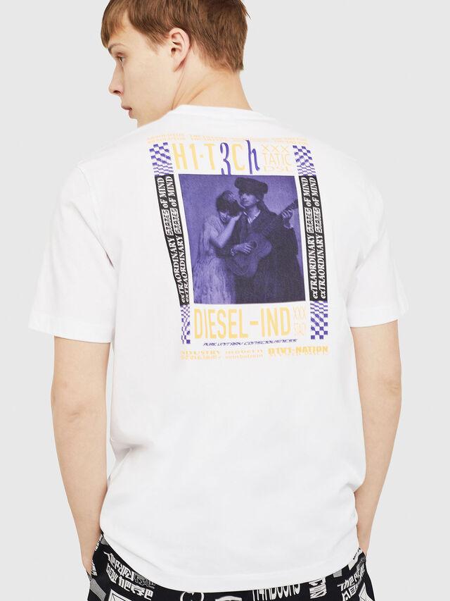 Diesel - T-JUST-Y15, Bianco - T-Shirts - Image 2