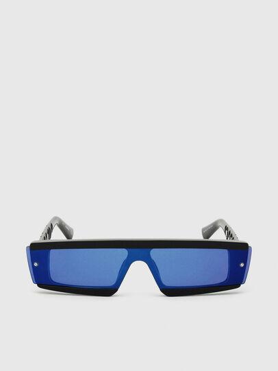 Diesel - DL0318, Nero/Blu - Occhiali da sole - Image 1