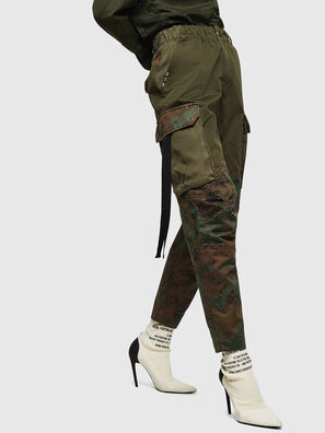 P-THENA-A, Verde Camo - Pantaloni