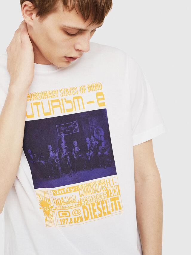 Diesel - T-JUST-Y16, Bianco - T-Shirts - Image 4