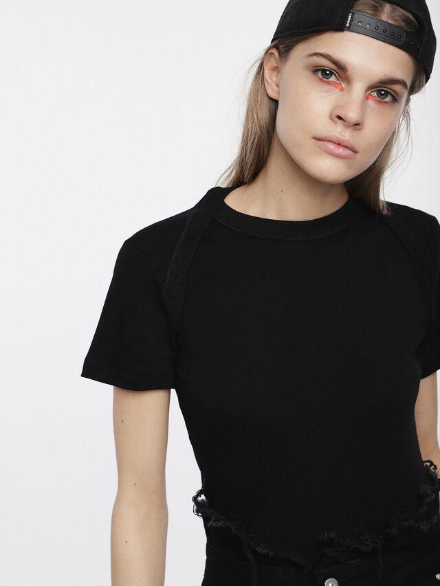 Diesel - T-SALI-A, Nero - T-Shirts - Image 3