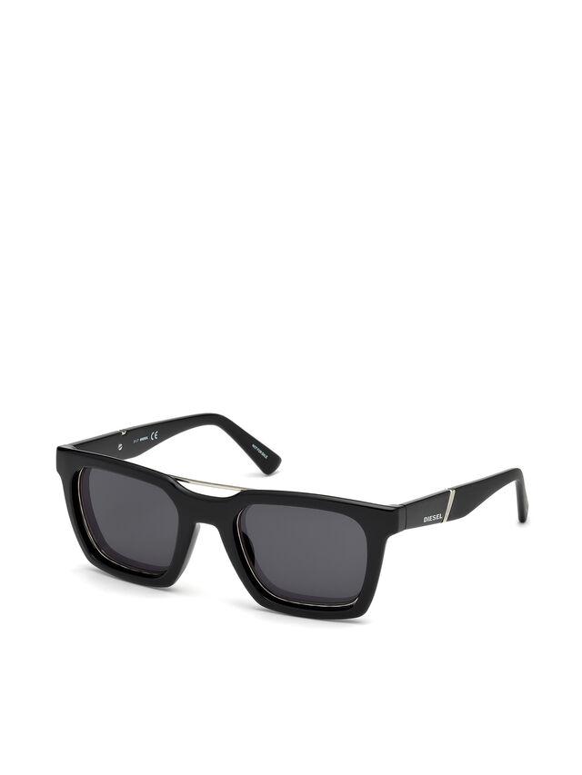 Diesel - DL0250, Nero Brillante - Occhiali da sole - Image 4