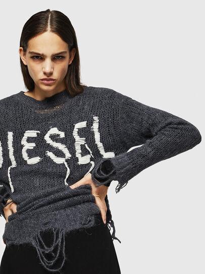 Diesel - M-ANDREA, Grigio - Maglieria - Image 4