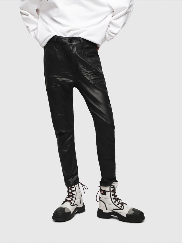Diesel - Fayza JoggJeans 069DU, Nero/Grigio scuro - Jeans - Image 1