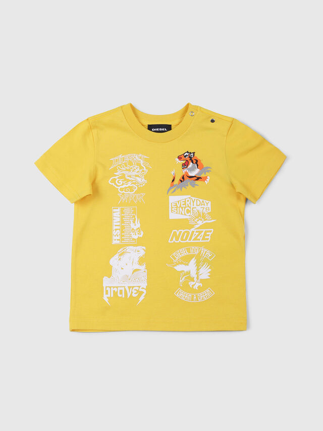 Diesel - TUCSEB, Giallo - T-shirts e Tops - Image 1