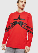 T-JUST-LS-STAR, Rosso - T-Shirts