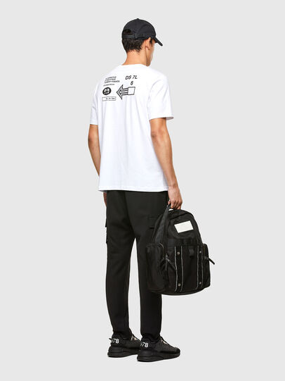 Diesel - T-JUST-A39, Bianco - T-Shirts - Image 5