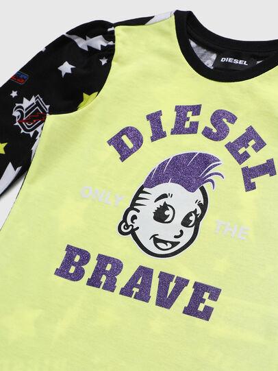 Diesel - TULLAB-R, Nero/Giallo - T-shirts e Tops - Image 3