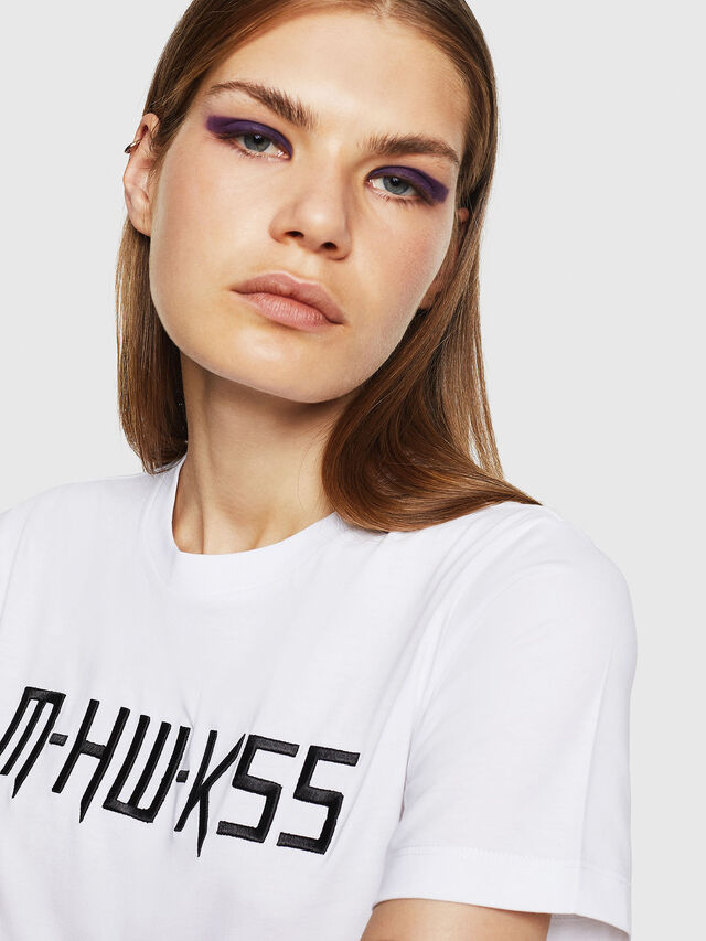 Diesel - T-SILY-WK, Bianco - T-Shirts - Image 3