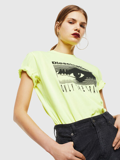 Diesel - T-DIEGO-J4, Giallo Fluo - T-Shirts - Image 6