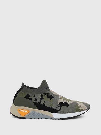 Diesel - S-KB ATHL SOCK II, Verde Camo - Sneakers - Image 1